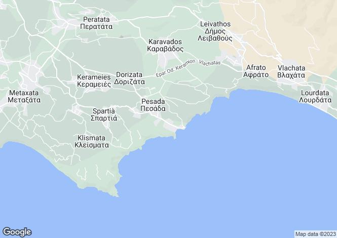 Map for Ionian Islands, Cephalonia, Pesada