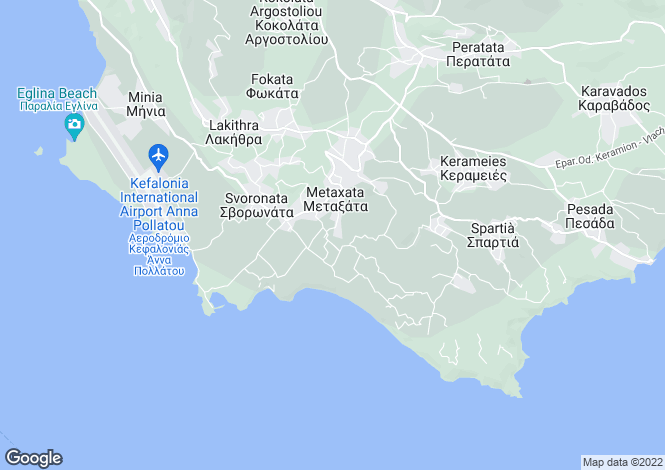 Map for Ionian Islands, Cephalonia, Kaligata