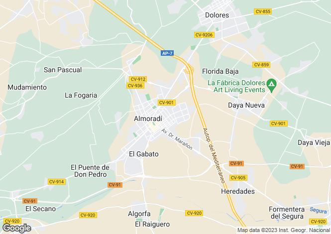 Map for Almoradí