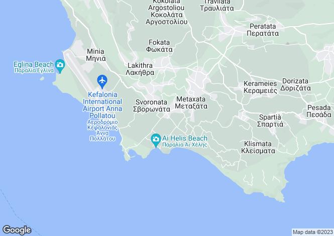Map for Svoronata, Cephalonia, Ionian Islands