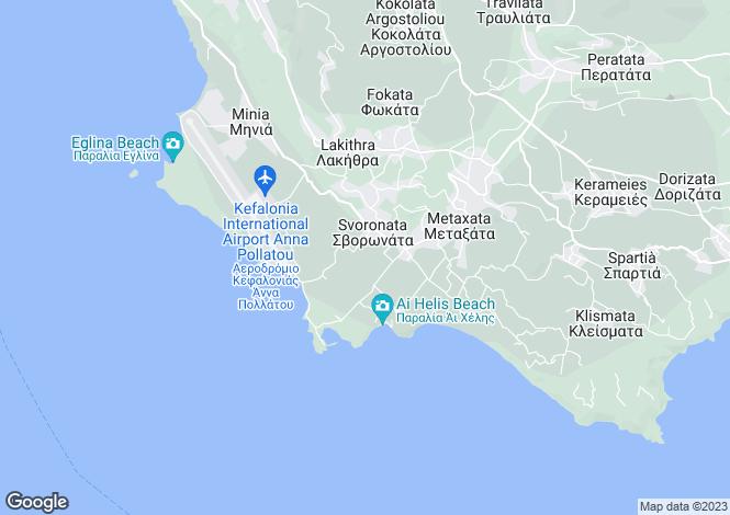 Map for Ionian Islands, Cephalonia, Svoronata