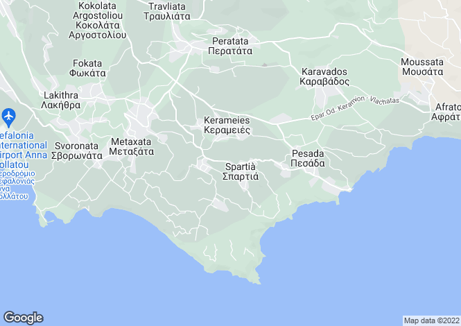 Map for Spartia, Cephalonia, Ionian Islands