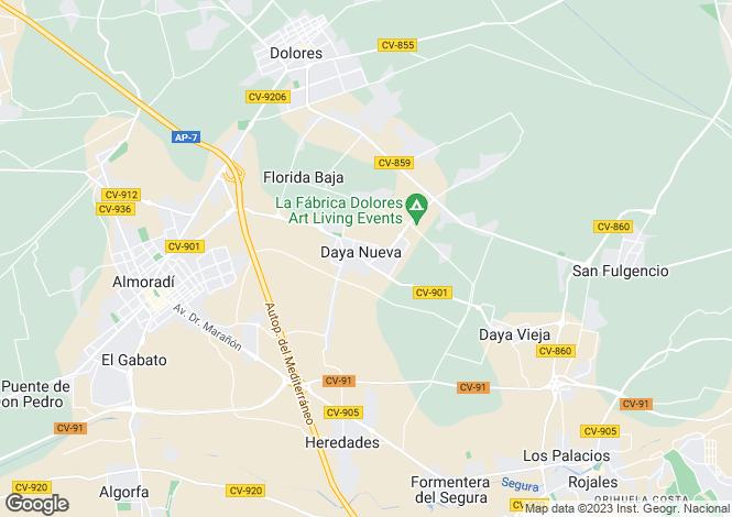 Map for Daya Nueva, Alicante, Spain