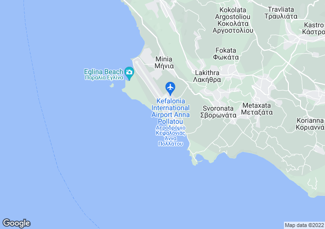 Map for Minies, Cephalonia, Ionian Islands