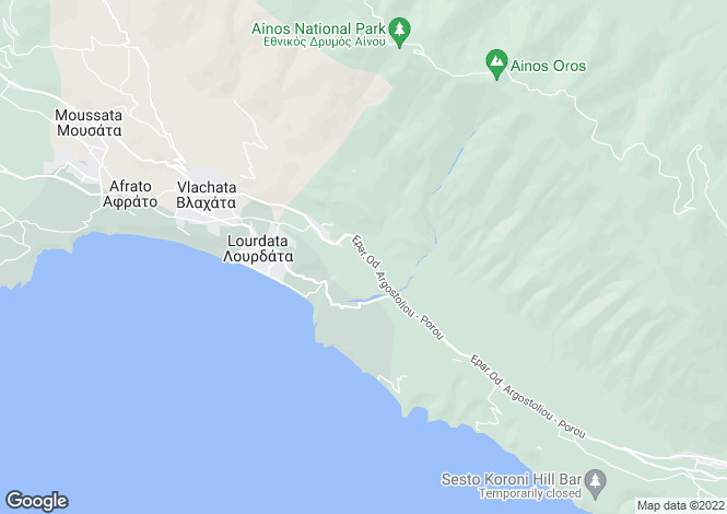 Map for Ionian Islands, Cephalonia, Simotata