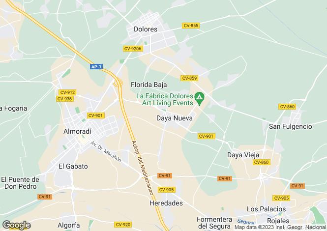 Map for Daya Nueva, Alicante, Valencia