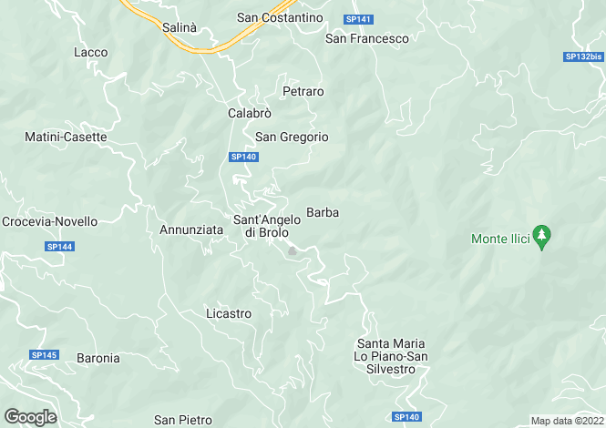 Map for Sicily, Messina, Sant`Angelo di Brolo