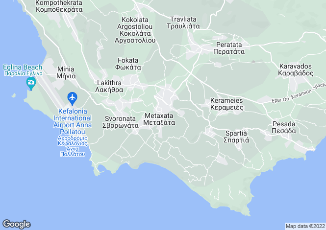 Map for Kourkoumelata, Cephalonia, Ionian Islands