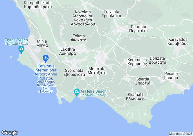 Map for Ionian Islands, Cephalonia, Metaxata