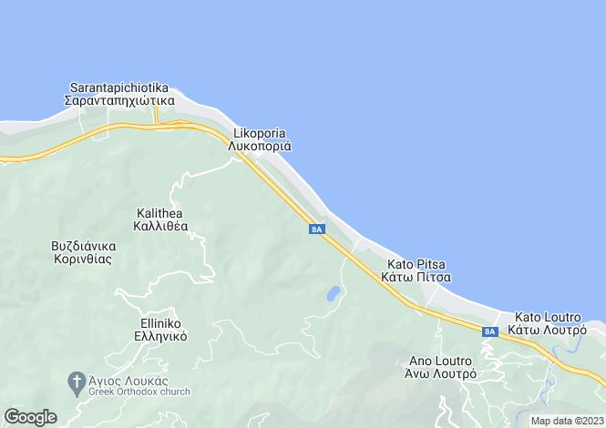 Map for Peloponnese, Corinthia, Lykoporia