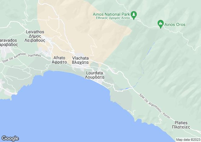 Map for Lourdas, Cephalonia, Ionian Islands