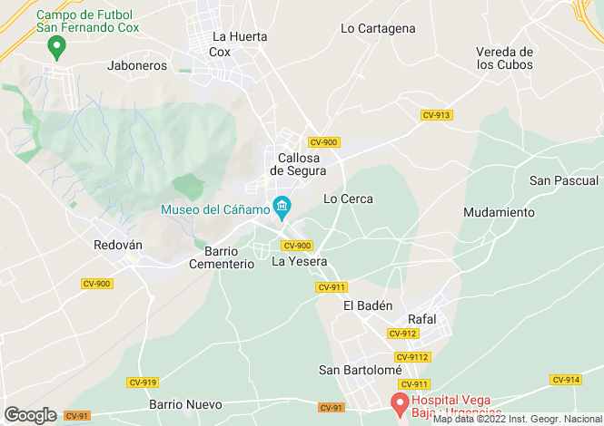 Map for Callosa de Segura, Alicante