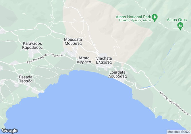 Map for Ionian Islands, Cephalonia, Trapezaki