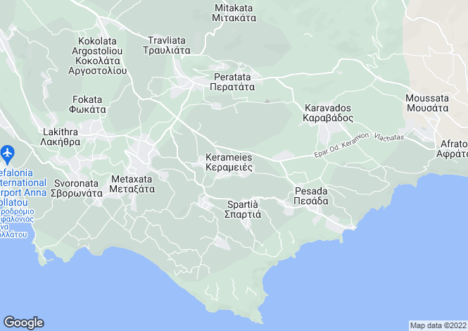Map for Keramies, Cephalonia, Ionian Islands