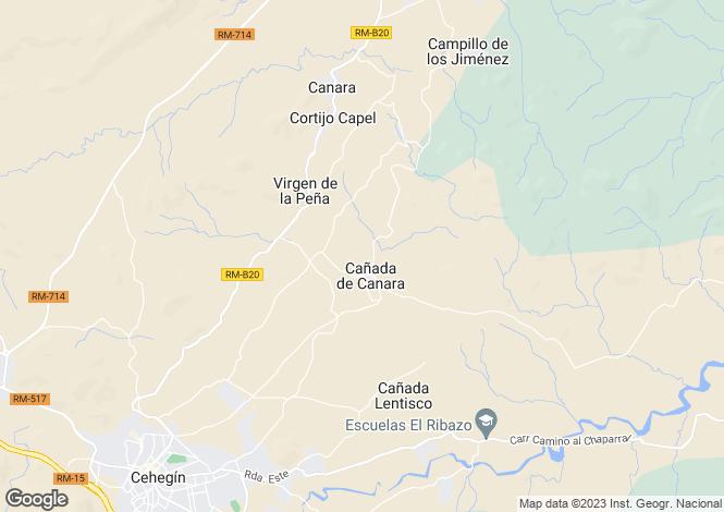 Map for Murcia, Cehegín