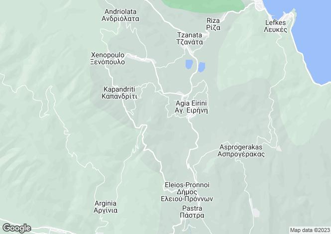 Map for Ionian Islands, Cephalonia, Agia Irini