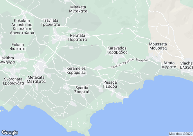 Map for Ionian Islands, Cephalonia, Dorizata