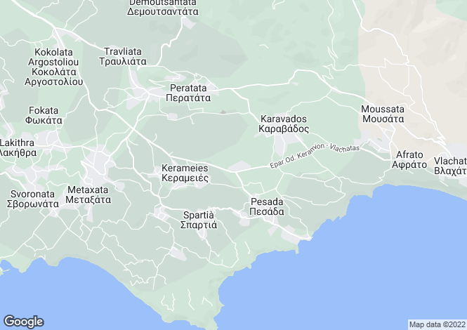 Map for Dorizata, Cephalonia, Ionian Islands