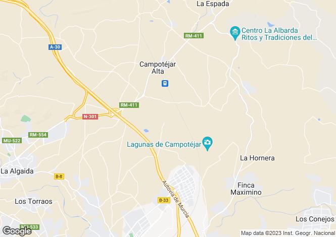 Map for Abaran, Murcia