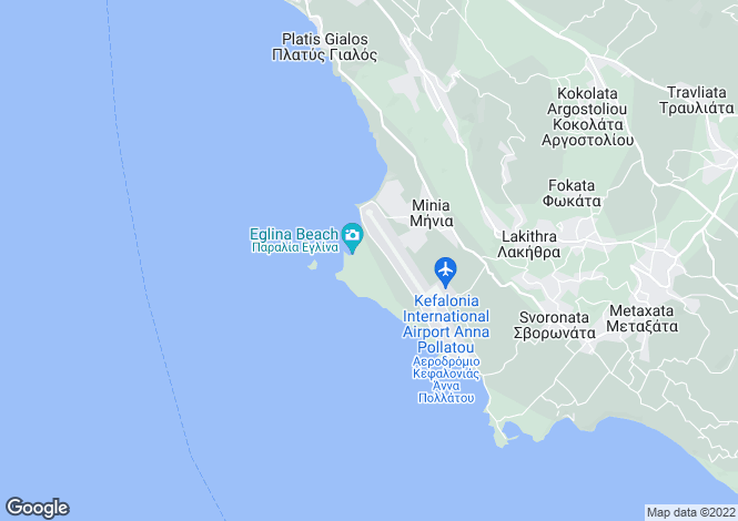 Map for Ionian Islands, Cephalonia, Minies