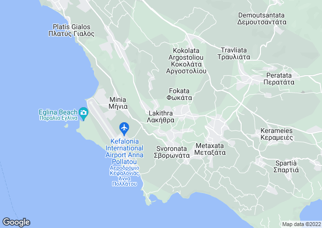 Map for Lakithra, Cephalonia, Ionian Islands