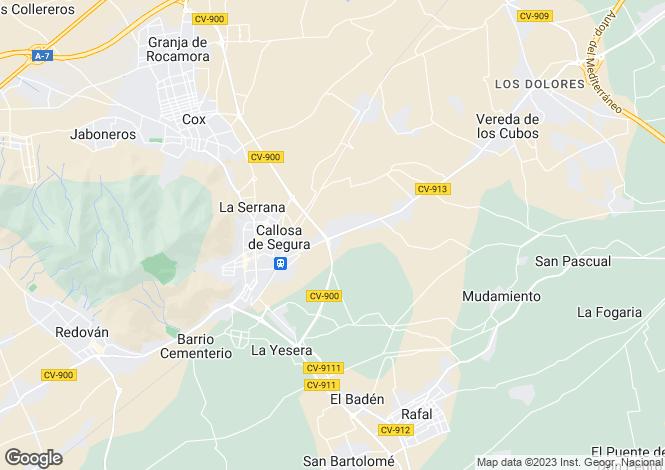 Map for Callosa de Segura, Alicante, Valencia