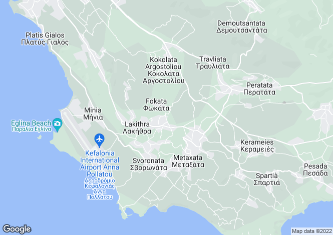 Map for Ionian Islands, Cephalonia, Fokata