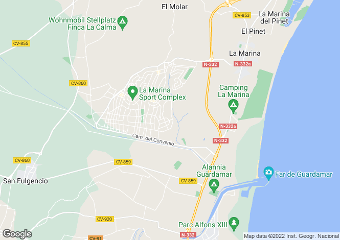 Map for La Marina, Alicante, Spain