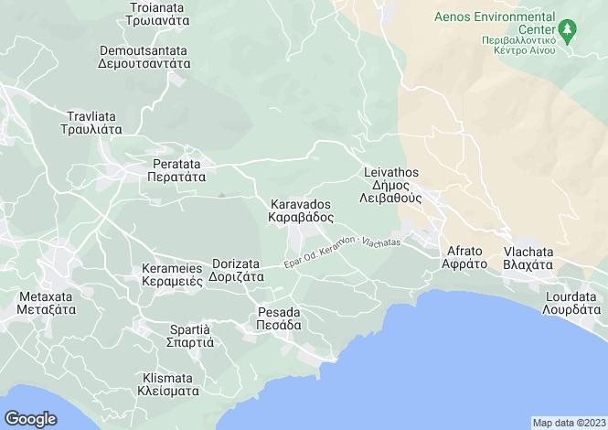 Map for Ionian Islands, Cephalonia, Karavados