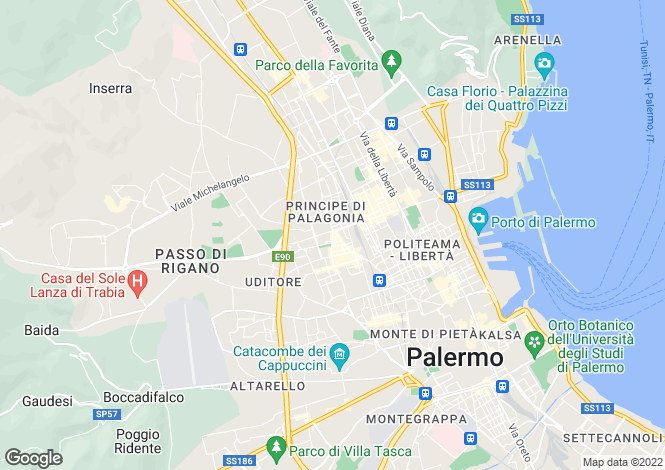 Map for Palermo, Palermo, Sicily