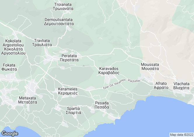 Map for Karavados, Cephalonia, Ionian Islands