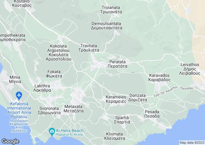 Map for Ionian Islands, Cephalonia, Mazarakata