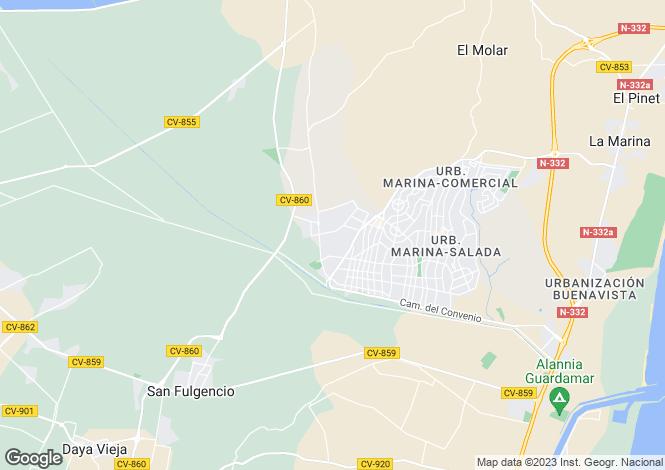 Map for San fulgencio, Alicante