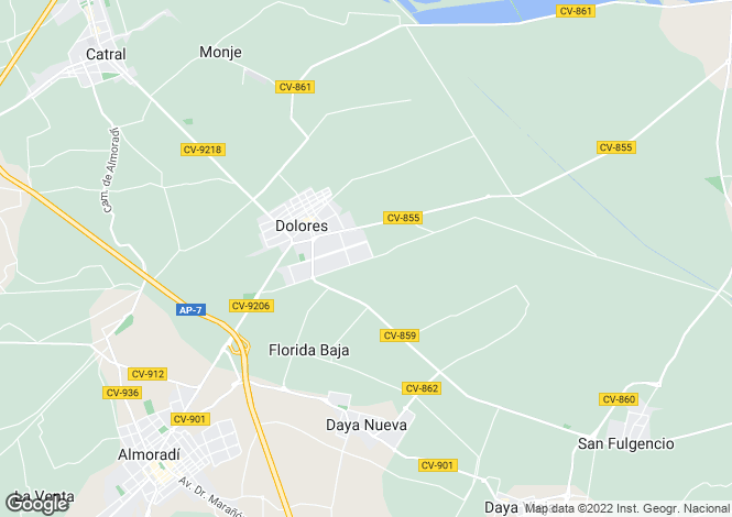 Map for Dolores, Dolores, Alicante, Spain