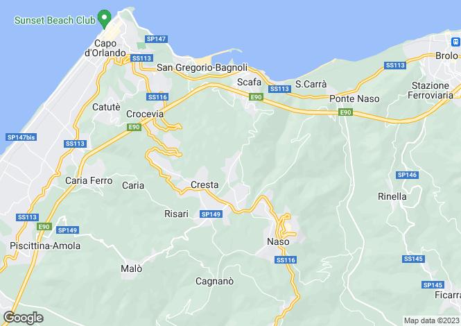 Map for Naso, Messina, Sicily
