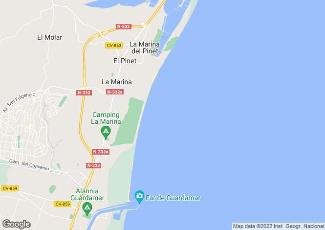 Map for La Marina