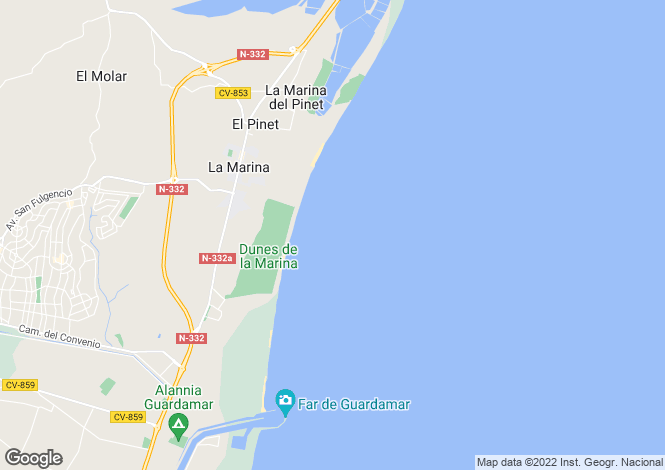 Map for La Marina, La Marina, Alicante, Spain