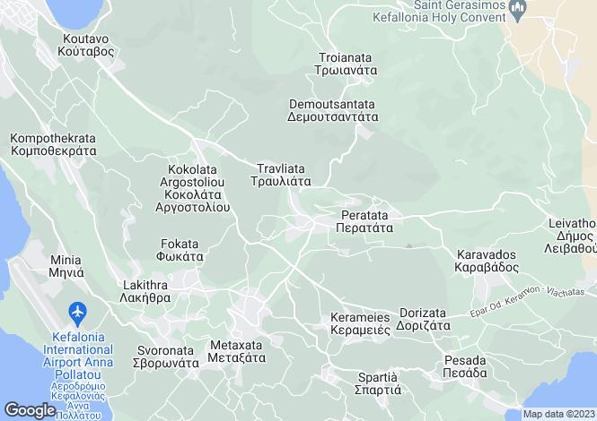Map for Travliata, Cephalonia, Ionian Islands