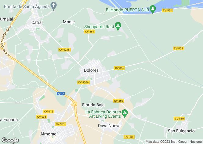 Map for Dolores, Alicante, Valencia