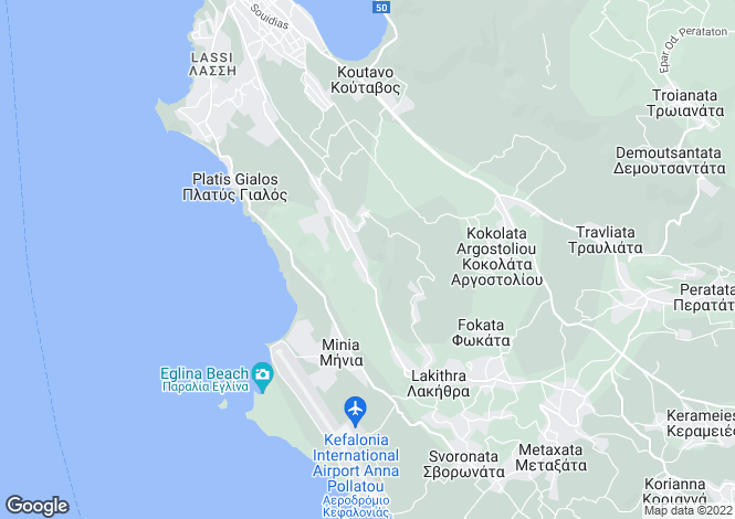 Map for Ionian Islands, Cephalonia, Helmata