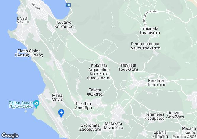 Map for Ionian Islands, Cephalonia, Kokolata
