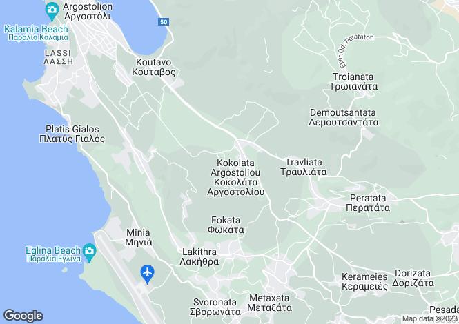 Map for Kokolata, Cephalonia, Ionian Islands