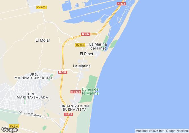 Map for La Marina, Elche/Elx, Alicante