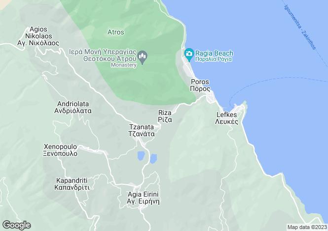 Map for Riza, Cephalonia, Ionian Islands