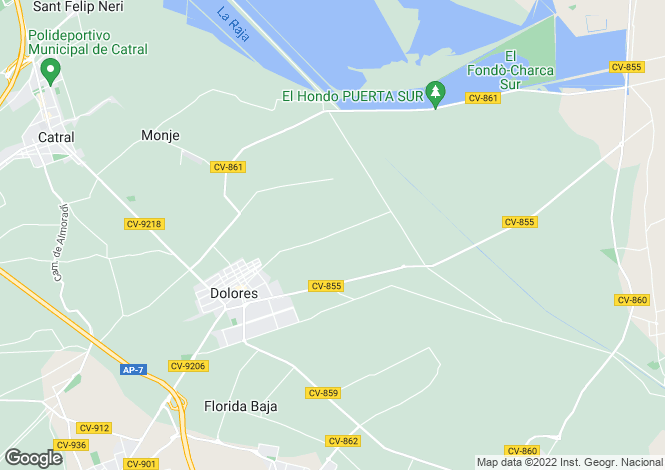 Map for Dolores, Alicante, Spain