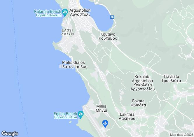 Map for Ionian Islands, Cephalonia, Chelmata