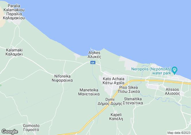Map for Peloponnese, Achaea, Kato Achaïa