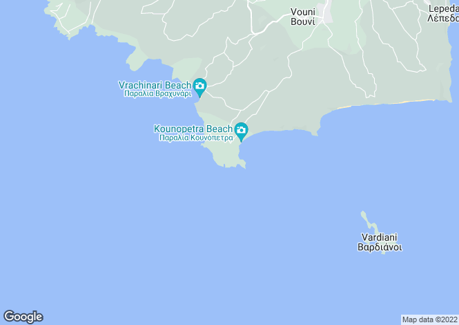 Map for Ionian Islands, Cephalonia, Kounopetra
