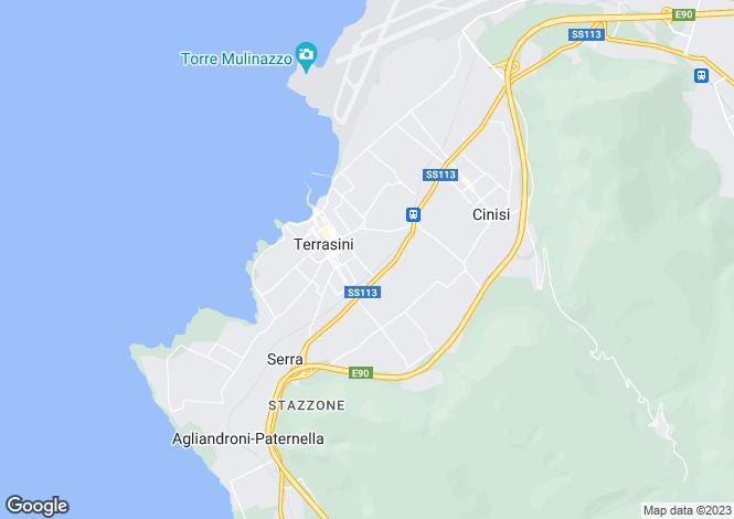 Map for Terrasini, Palermo, Sicily