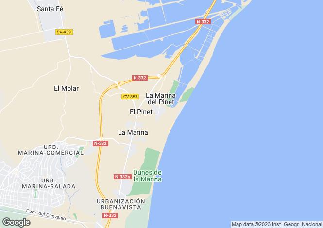 Map for La marina, Alicante